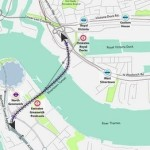 Proposed Silvertown Tunnel route, taken from TfL's 2014 consultation.